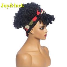 Joy & luck Африканский тюрбан парик Wrp и парик связанные повязки парики коробка косички синтетические головы обернуть парик(Китай)