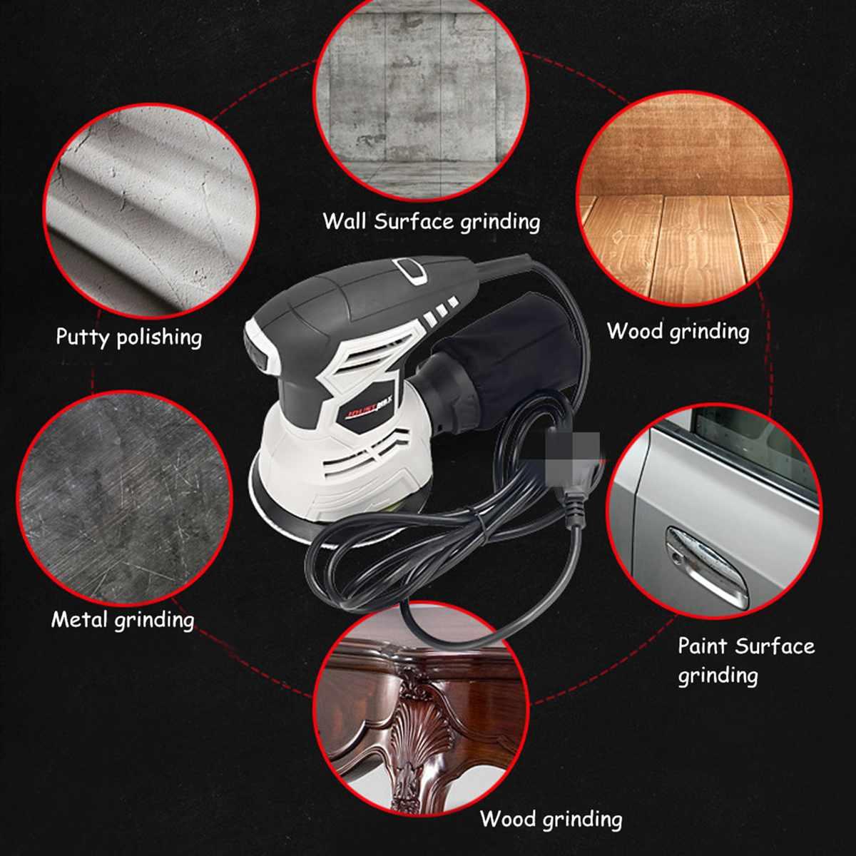 Rectifieuse électrique murale, appareil de ponçage pour cloisons sèches, de haute qualité