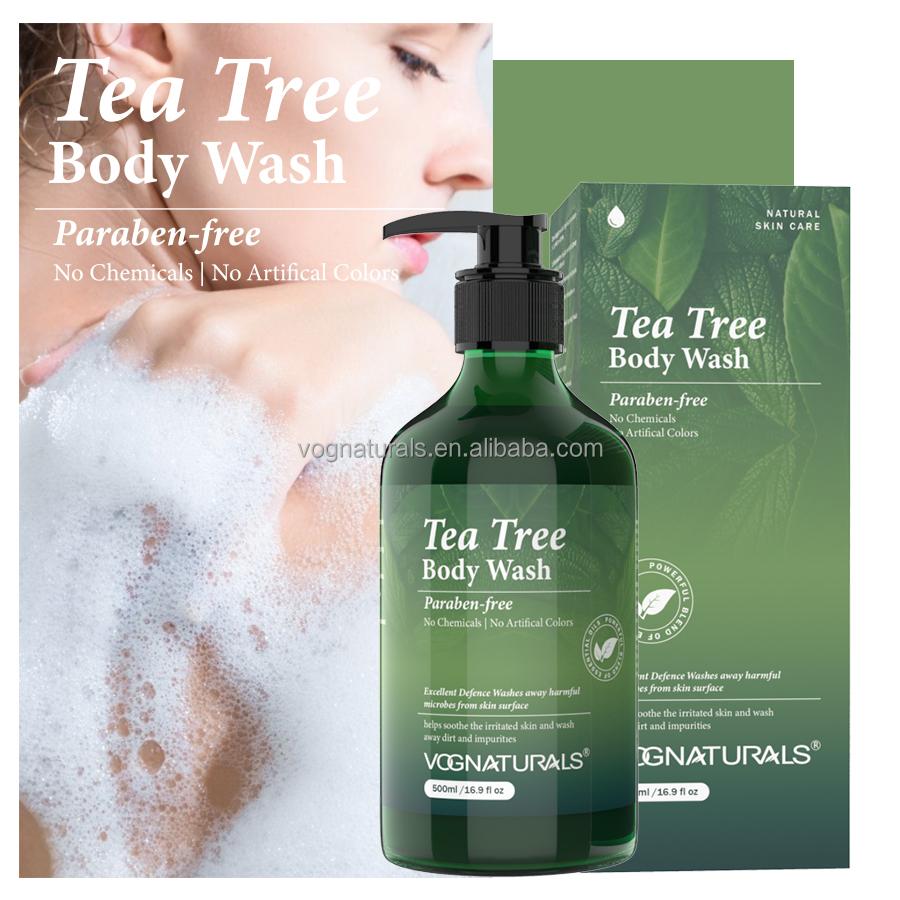 Гель для душа от частного бренда, отбеливающий гель для тела с Чайным Деревом