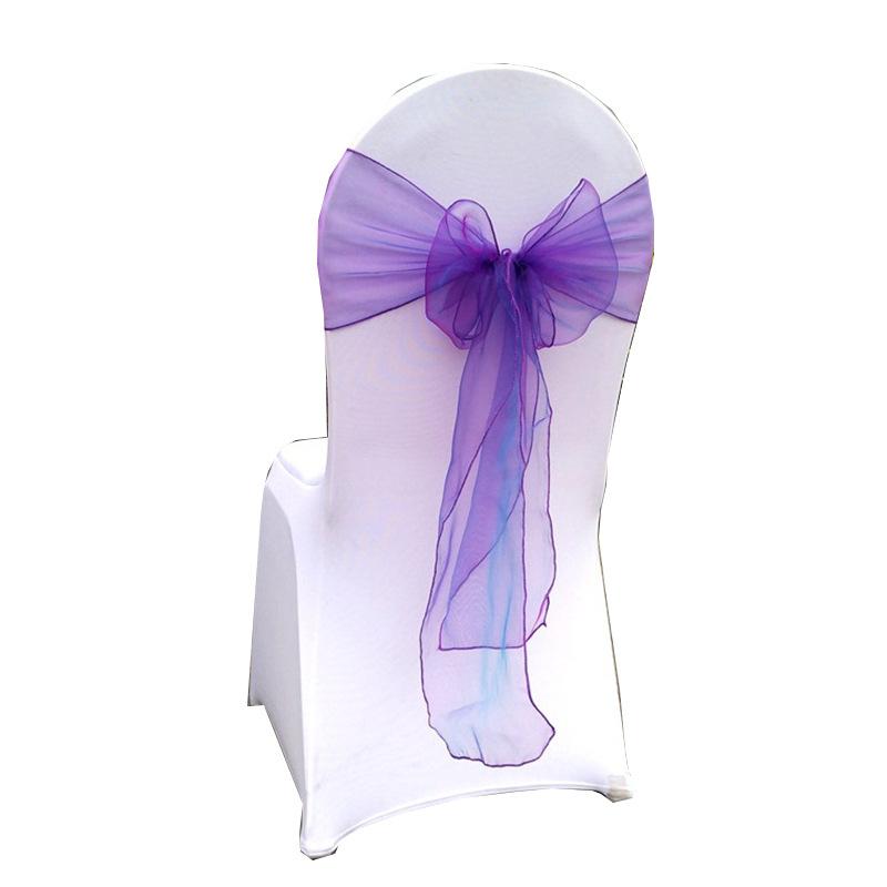 Свадебный стул из органзы с поясом, свадебные декоративные повязки на стулья бордового цвета, украшение для отеля, банкета, оптовая продажа с завода