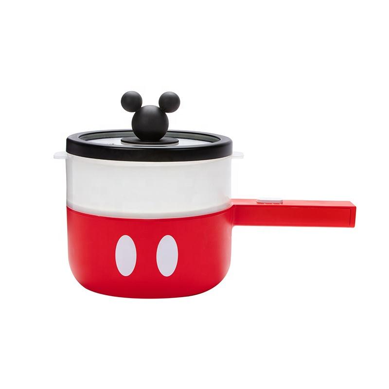 Мультиварка Disney 1,5 л, многофункциональная бытовая электрическая сковорода с пароваркой, красного цвета
