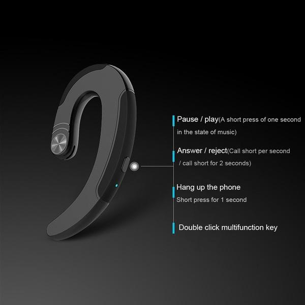 2021 BT 4.2 Stereo single anti slip ear hook Bt Earphone Headset Wireless Headphones earphones with Microphone