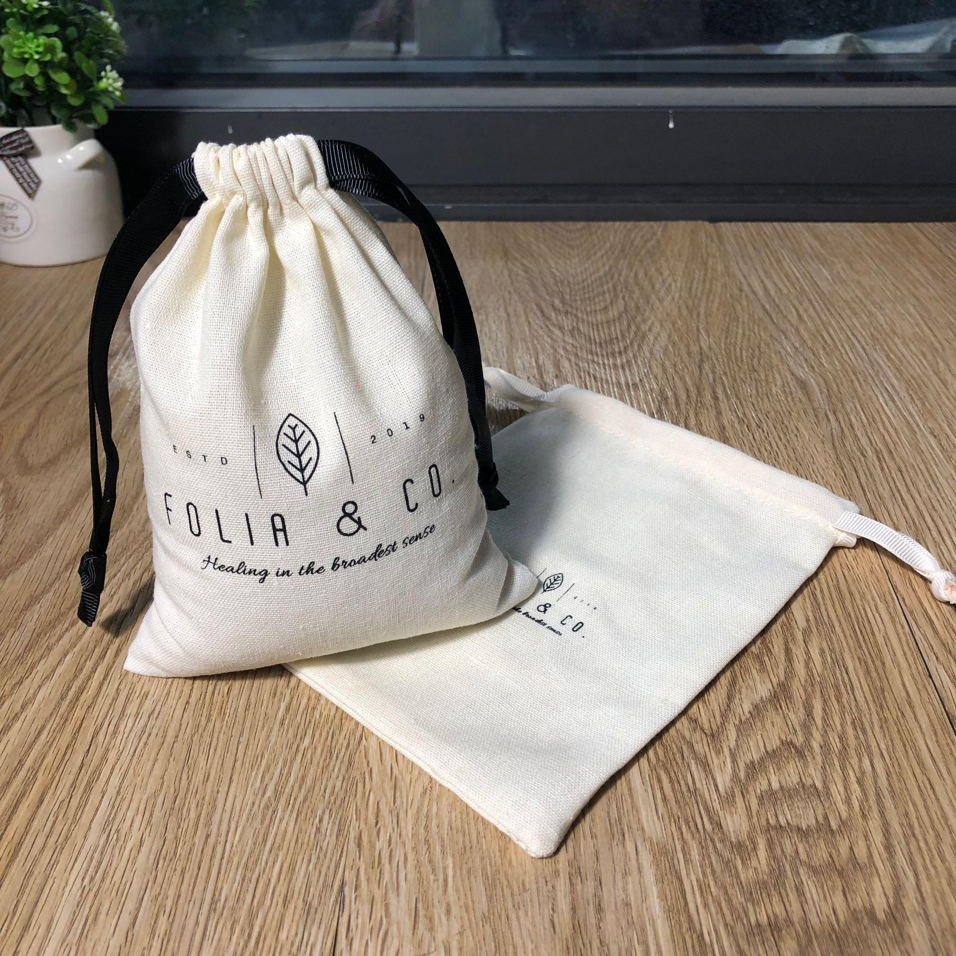 Хлопковый льняной мешок для мыла с логотипом на заказ, экологичный Подарочный мешок на шнурке