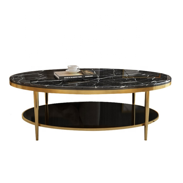 Oval Shape Gold Stainless Steel Frame Coffee Table With Marble Top Buy Oval Coffee Table Gold Oval Coffee Table Oval Marble Coffee Table Product On Alibaba Com