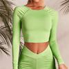 Green-long sleeve tops