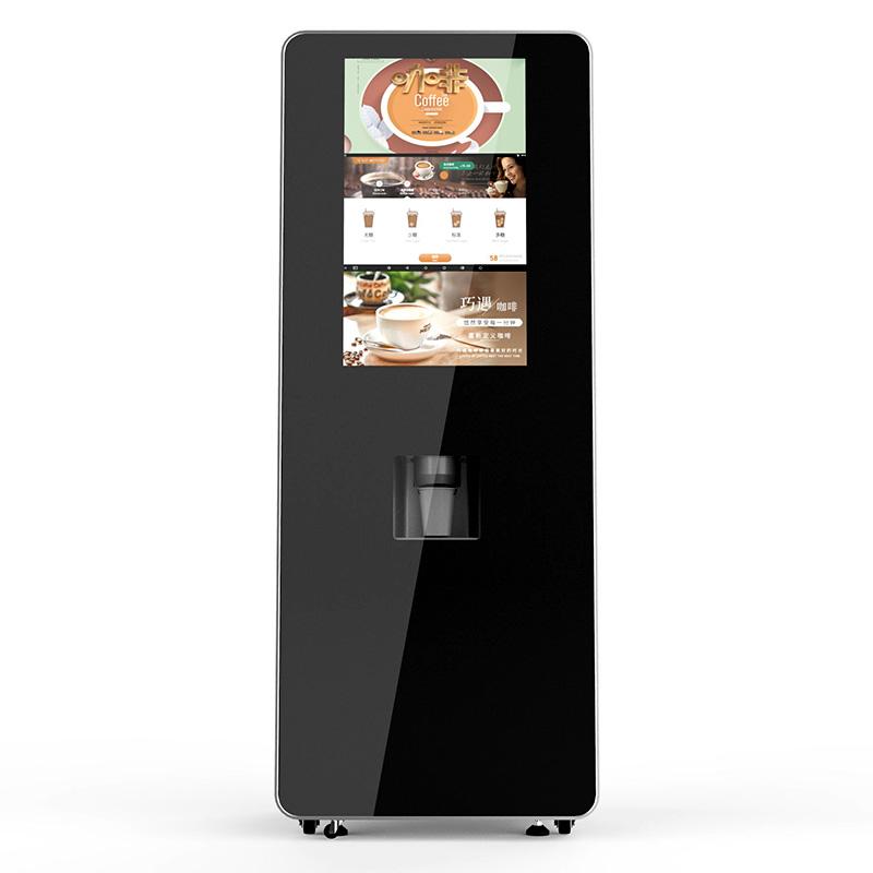 Electric touch screen coffee machine instant coffee powder making machine