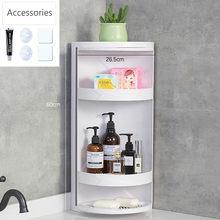 Новый вращающийся стеллаж для хранения ванной комнаты, кухонный угловой органайзер, полка, Бесплатная Пробивка, пластиковый держатель, душ...(Китай)