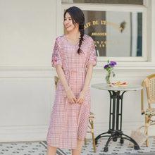 Женское платье с цветочной вышивкой, платье с коротким рукавом и треугольным вырезом, подходит для лета, inman(Китай)