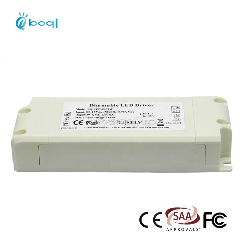 boqi CE CB SAA 0-10v dimming led driver constant current 1500ma 30-45v 45w 50w 60w 65w
