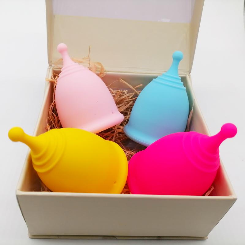 10 цветов, ISO 13485 100%, медицинская силиконовая чаша для леди, многоразовая менструальная чаша