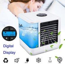 Портативный кондиционер, USB мини-вентилятор, увлажнитель, очиститель, 7 цветов, светильник, настольный вентилятор для охлаждения воздуха, во...(Китай)