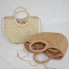 Summer 2021 Handmade Small Round Natural Rattan Bags Bali Women Purse Summer Beach Basket Handbags Straw Clutch Bag Wholesale