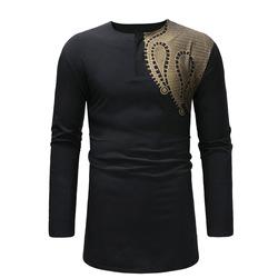 MXCHAN SJH11011 оптовая продажа африканская Мужская модная печать Дашики Мужская футболка африканская одежда для мужчин