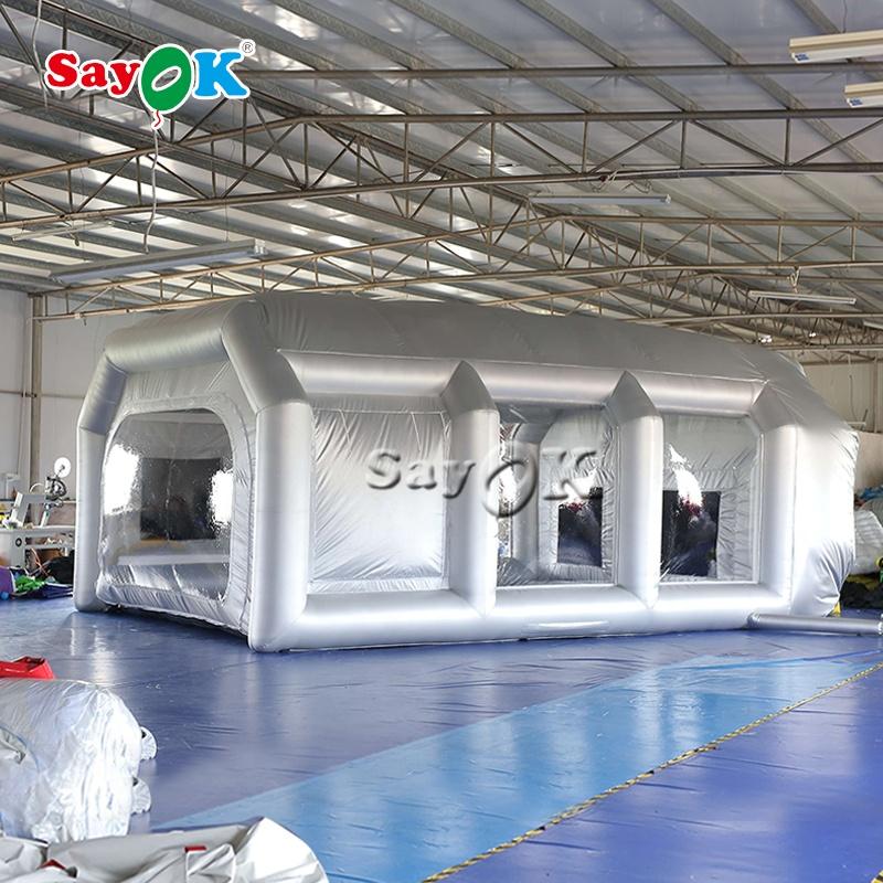 Аэрограф, распылительная кабина, Большая комбинированная Автоматическая простая внешняя кабина для распыления краски автомобиля