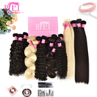 Hair Weaves Bundles Free Ship Top Sample Wholesale 12a 100% Unprocessed Cuticle Aligned Raw Weaves Brazilian Virgin Remy Human Hair Bundles
