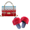 Colorful J Purse and Sandals Set