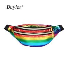 Buylor голографическая поясная сумка, лазерный пояс, сумка для женщин, дизайнерские поясные сумки, милая поясная сумка, модная нагрудная сумка,...(Китай)