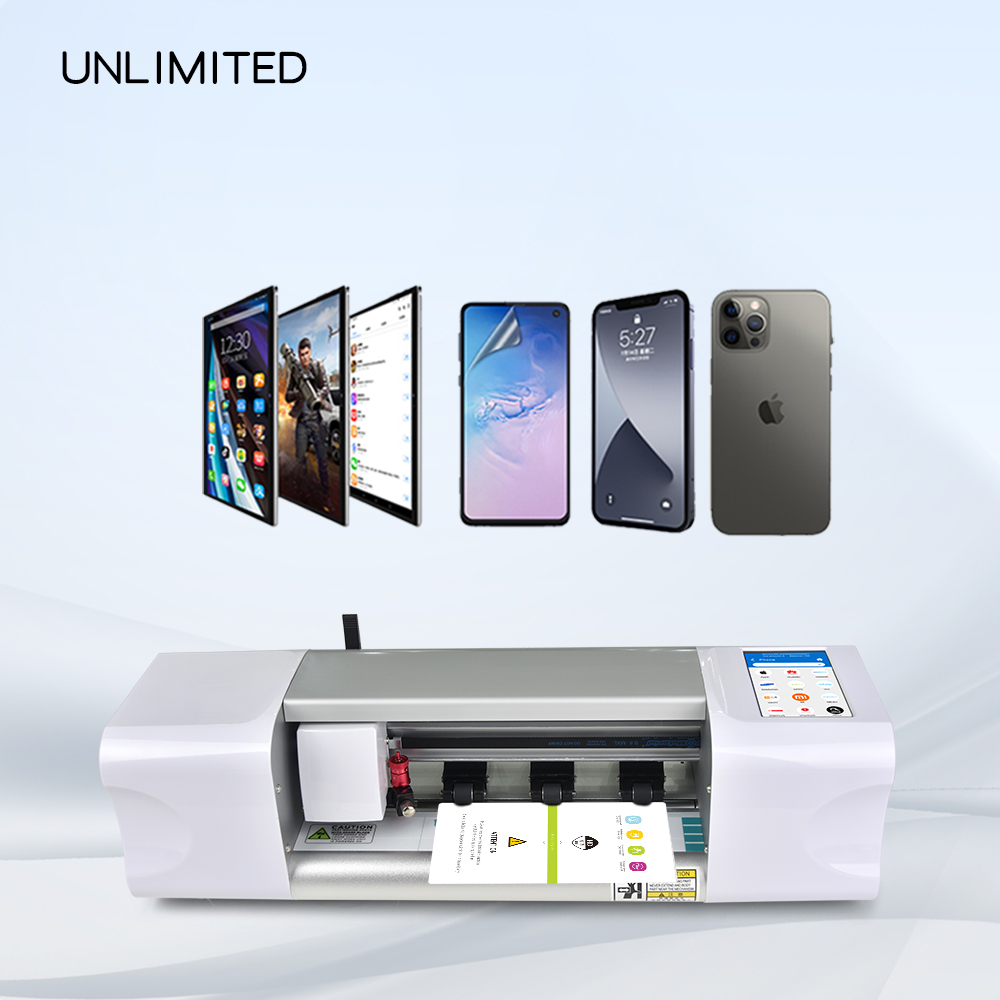 Laptop Skin And Sticker Covers Screen Protector Fully Automatic Cut Plotter Smart Protective Film Making Machine