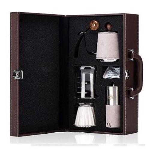 Кофеварка кофемолка ручной удар кофе комплект кастрюль капельный фильтр чашка Мелкий рот горшок Мясорубка Подарочная коробка кофе прибор(Китай)
