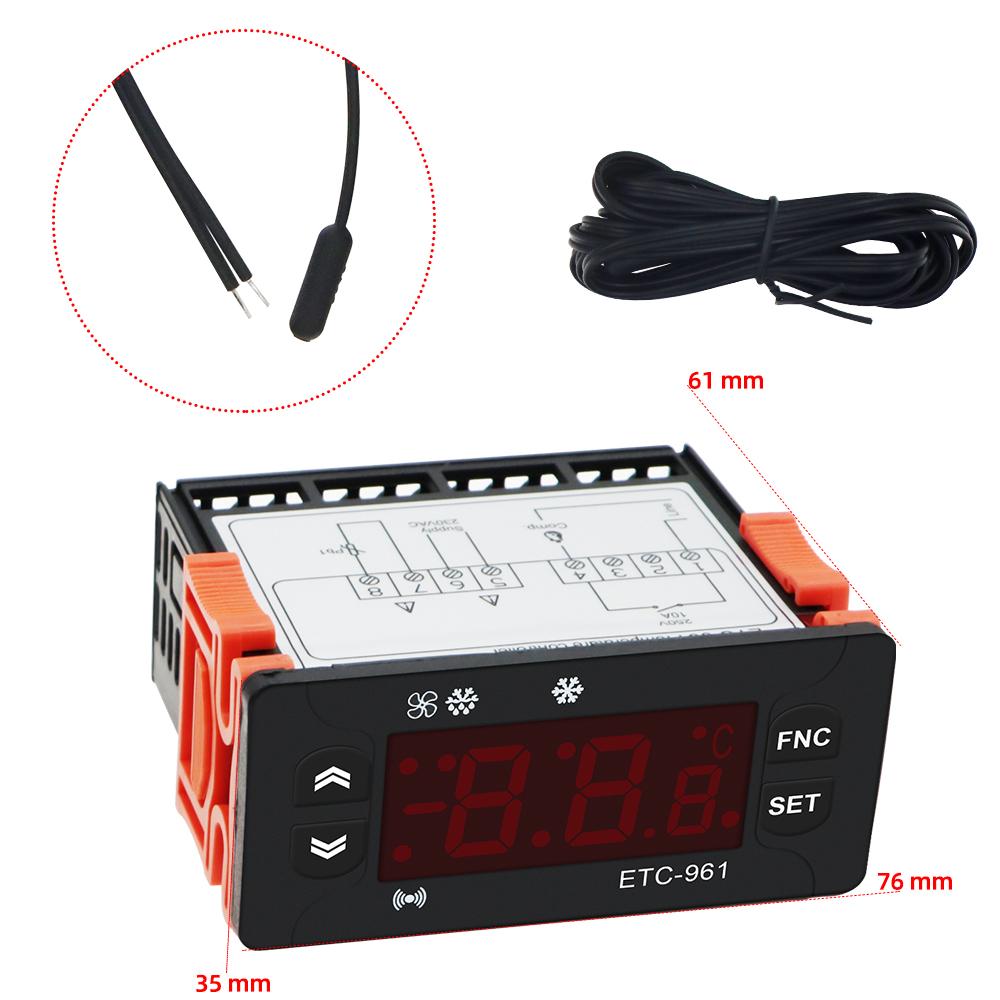 Details about  /ETC-961 Digital Temperature Controller Thermostat Refrigeration Defrosting Alarm