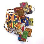 RTS Hot selling African wax fabric shoulder bag women hand bags
