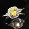 18k gold 0.24ct yellow diamond ring
