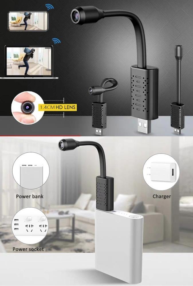 Смарт-камера слежения с облачным хранилищем, компактная Гибкая USB-камера слежения с приложением P2P для систем видеонаблюдения, скрытая IP-камера с Wi-Fi и мини-USB