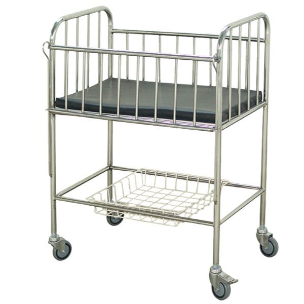 Stainless Steel Frame Medical Baby Cot Crib Baby Bed and Confinement Center Hospital Infant Bed