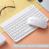 Putih keyboard dan mouse