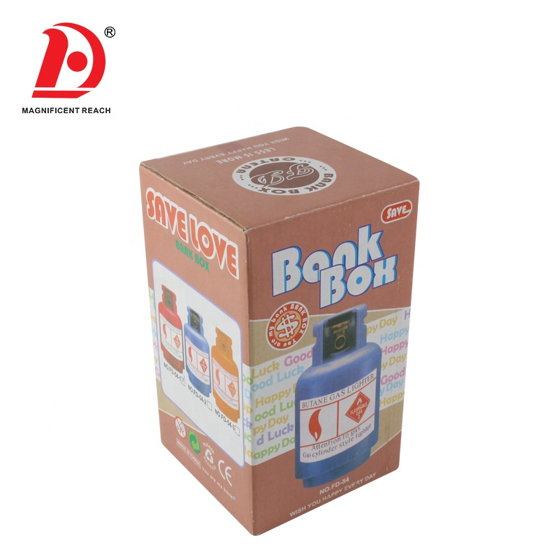 HUADA Kids Interesting Mini Coin Piggy Bank PVC Plastic Saving Money Cash Box for Children