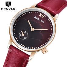 2019 новые BENYAR женские часы роскошные часы Женские Простые Кварцевые водонепроницаемые наручные часы женские модные часы Relogio feminino(Китай)