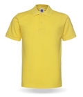 Oem Custom Logo Blank Printing Short Sleeve 100% Cotton Durable Promotional Yellow Polo Shirt Clothes For Men
