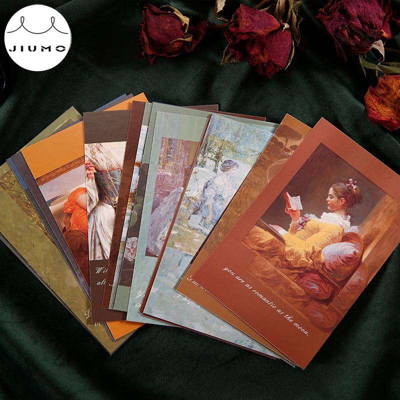 30Pcs/Box Postcard Collection Romantic Series Postcard For Kids Retro Style Creative Writing Greeting Gift Postcard JIUMO