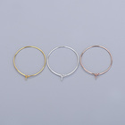Hoop Wholesale 925 Sterling Silver Wire Basic Round Hoop Earring DIY Handmade Drop Earrings Jewelry Accessories Gold Plated