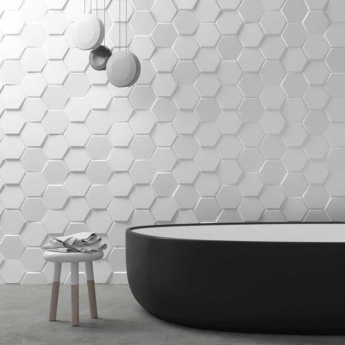 3d Hexagon forma irregolare di superficie impermeabile e insonorizzate cuoio del pvc della parete del pannello