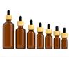 Bruine fles + Ronde Pipet + Houtnerf Cap + Zwarte Druppelaar