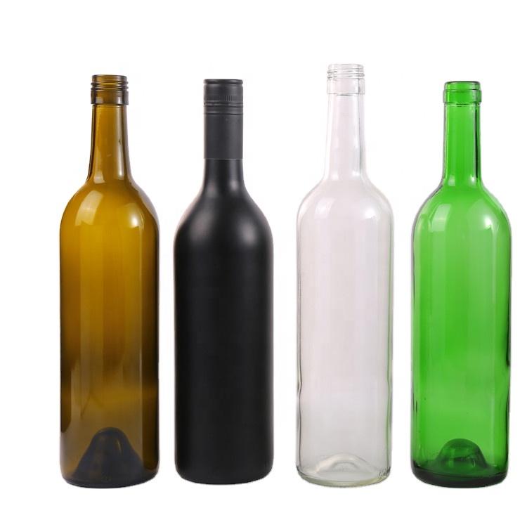 2021 оптовая продажа, стеклянная винная бутылка проверенного цвета на заказ, 750 мл