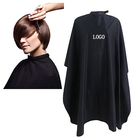 Cape Barber Hair Cut Cape Black Hair Cutting Polyester Snap Neck Barber Salon Cape With Logo