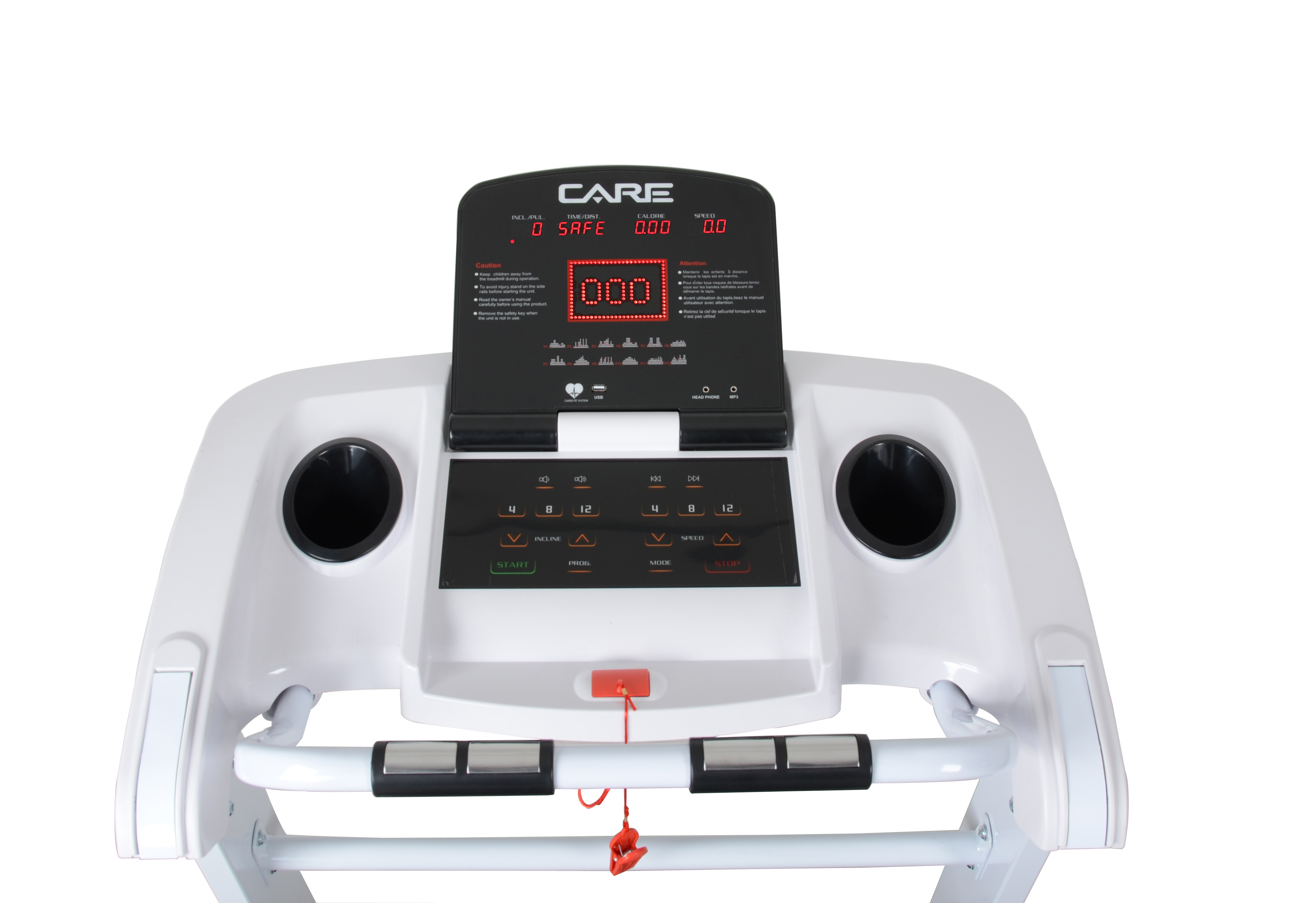 Medical rehabilitation treadmill with ac motor and 0.2KM/H low speed
