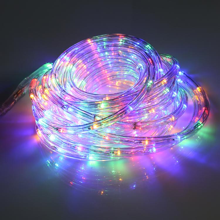 Водонепроницаемый уличный Рождественский декоративный веревочный светильник 100 м