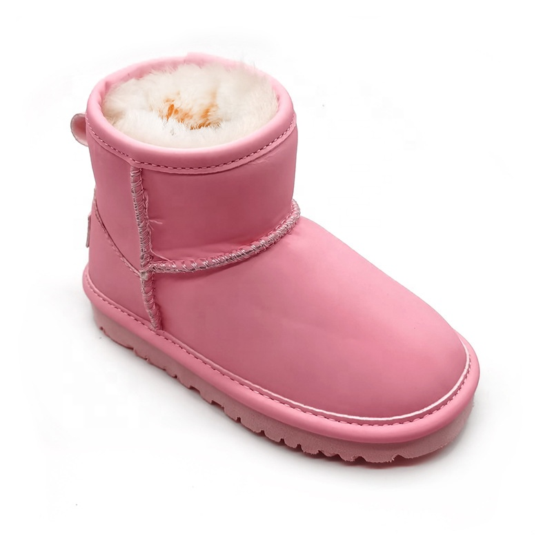 New Trendy Glow in the Dark Snow Boots Kids and Adult One Piece Fur Mid-boots