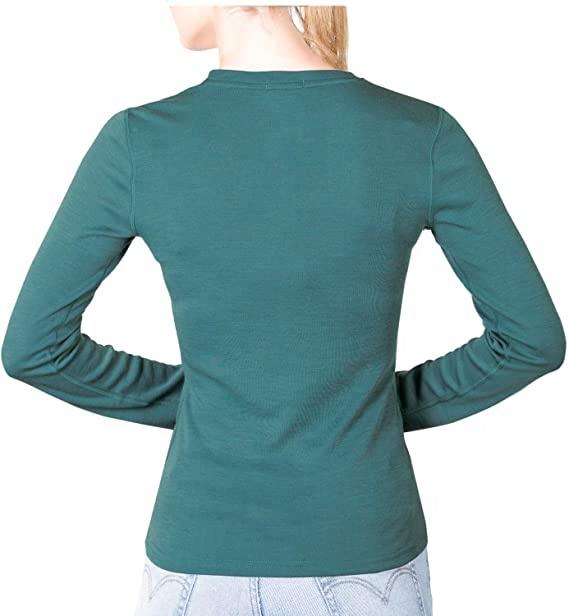 OEM/ODM Durable Style Women Long Sleeve Underwear 100% Merino Wool Base Layer T Shirt