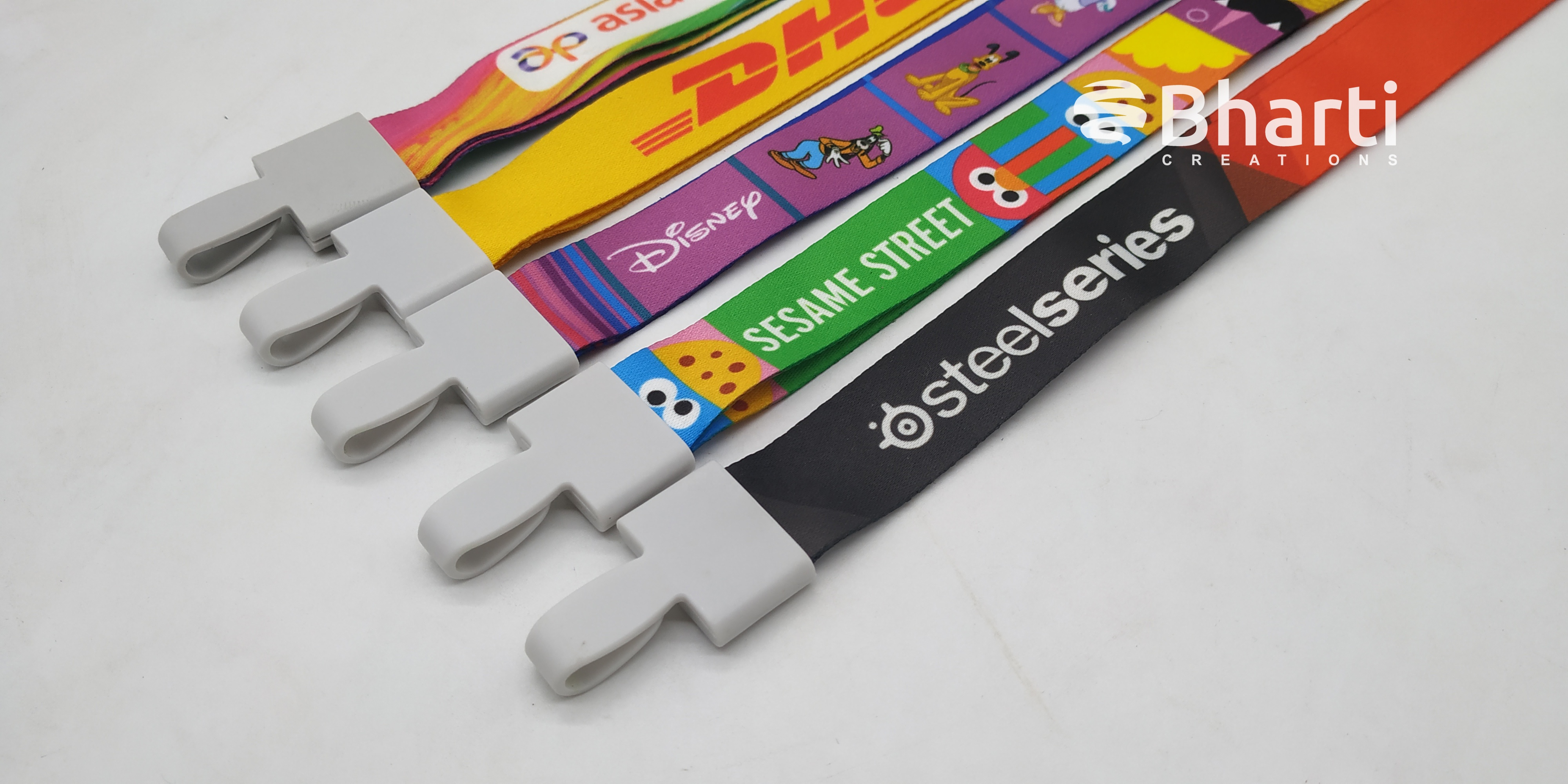 16 mm. & 20 mm. Multicolored Satin Lanyards / Digital printed lanyards