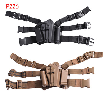 Combat Glock Pistol Gun Holster Military Hunting Shooting Airsoft Drop Leg Thin Holster Fit For Glock 17 19 1911 USP M29 P226