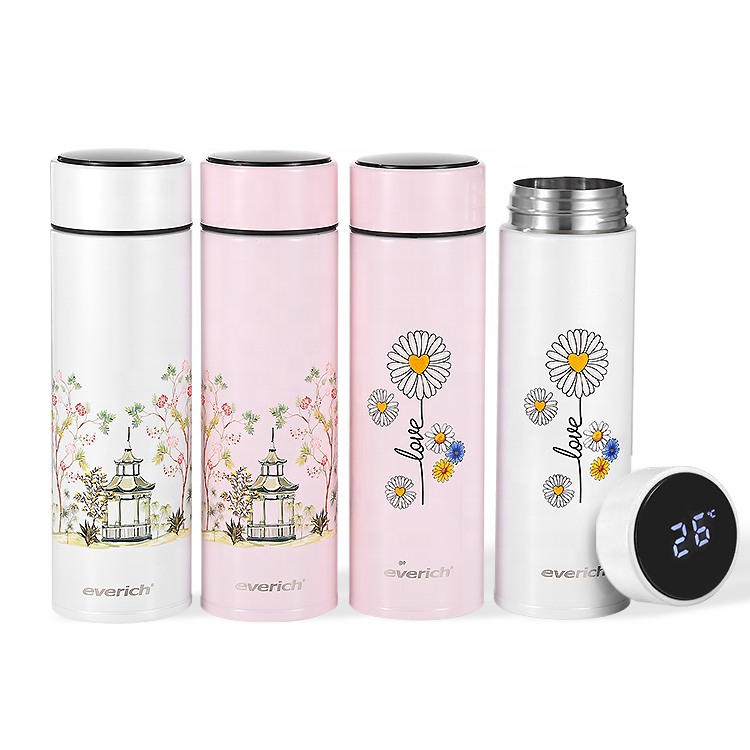 Hot Sale Low MOQ Everich OEM Double Walled Insulated 18/8 Stainless Steel Vacuum Sport Thermal ECO Smart Water Bottle with App