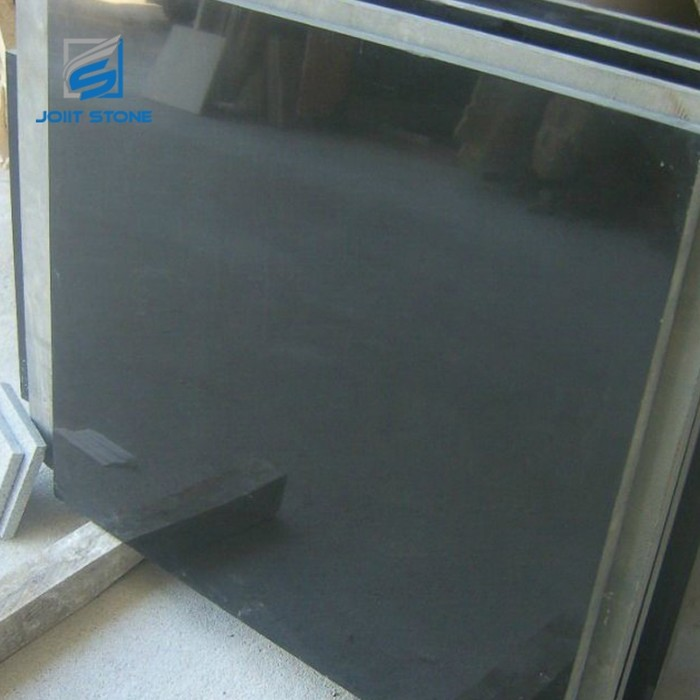 Factory direct mongolia black granite absolute black granite with polished surface