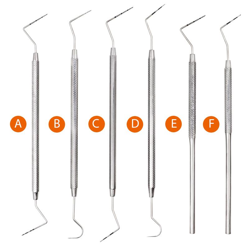 RTS 6 Pcs/Set Stainless Steel Periodontal Probe Scale Probe Dental Periodontal Probe