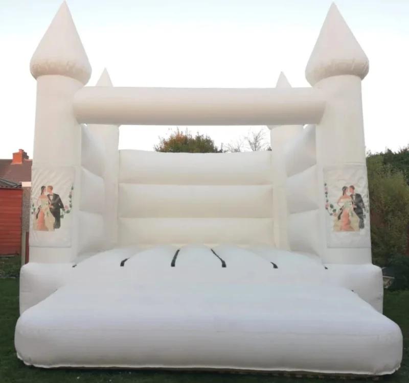Надувной прыгающий замок из ПВХ, Белый дом для продажи