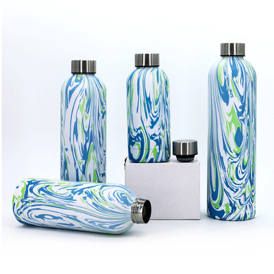 New stainless steel vacuum small mouth bottle water transfer 304 customizable outdoor sports bottle