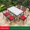 13-6 JL chair 1 white ceramic tile table 150*90cm